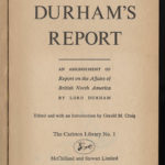 1838: Lord Durham's Report