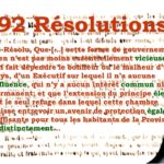 "1834: ""the 92 Resolutions"""