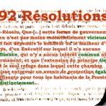 1834 : « Les 92 résolutions »